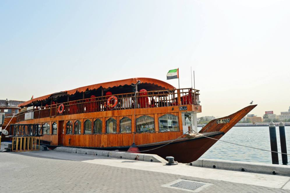 Take a dinner boat cruise along the Deira River